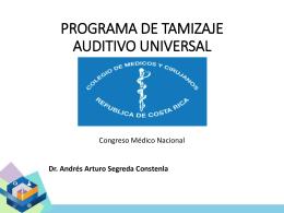 Programa del Tamizaje auditivo universal