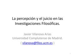 La Ontología de las I.F. y la objetividad del «ver-cómo».