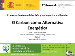 El carbón como alternativa energética - Abes-RS