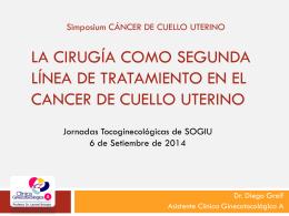 La cirugía como segunda línea de tratamiento en el cancer