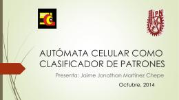 autómata celular como clasificador de patrones