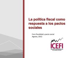 La política fiscal como respuesta a los pactos sociales