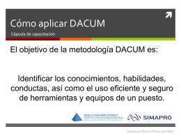 Cómo aplicar DACUM