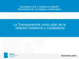 Jorge Ulloa La Transparencia como base para las nuevas