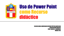 Uso de Power Point como Recurso didáctico