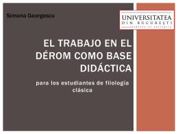 El trabajo a DÉRom como base didáctica