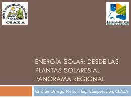 Radiación solar como fuente de energía, panorama - CEAZA-Met