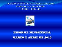 iglesia evangelica asambleas de dios esmeralda y madureira sucre