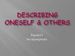Describing oneself & others