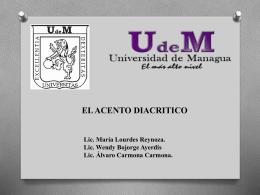 ortografia - Prof. María de Lourdes Reynoso