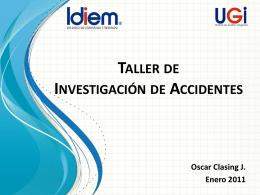 Presentación sobre Investigación de Accidentes