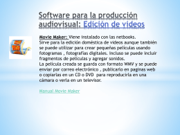 Software para la producción audiovisual