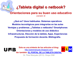 ¿Tableta digital o netbook? Orientaciones para su buen uso educativo