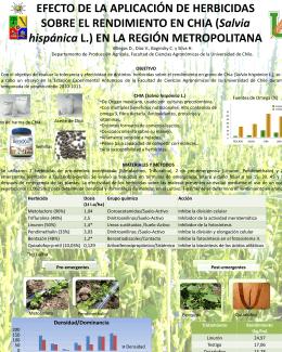 (Salvia hispánica L.) en la - El cultivo de la CHIA en Chile