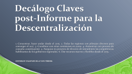 Decálogo Claves post-Informe para la Descentralización