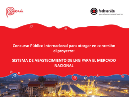 Sistema de Abastecimiento de LNG para el Mercado