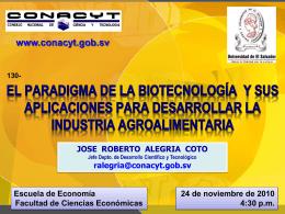 el paradigma de la biotecnología y sus aplicaciones para