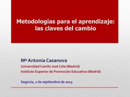 Las estrategias metodológicas, clave para la