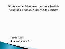 Directrices del Mercosur para una Justicia Adaptada a NNyA