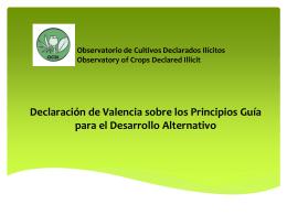 La Declaración de Valencia sobre los Principios Guía para el