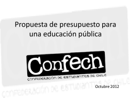 Propuesta de presupuesto para una educación pública