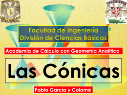 Cónicas - División de Ciencias Básicas