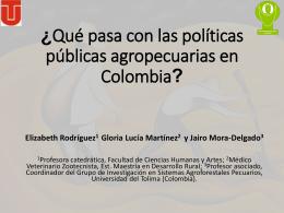 2. Que pasa con las piliticas publicas afropecuarias en Colmbia