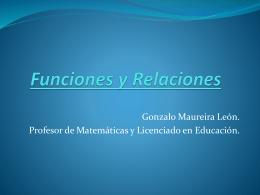 Funciones y Relaciones