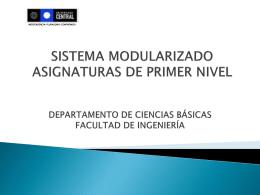 El Sistema Modular - Facultad de Ingeniería | Universidad Central