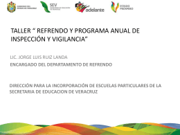 Programa Anual de Inspección y Vigilancia