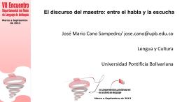 Descarga las diapositivas del profesor José Mario Cano
