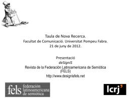 XIV Congreso Asociación Española de Semiótica Facultad de