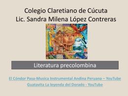 Las características de la literatura precolombina son