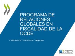 Programa de relaciones globales en fiscalidad de la OCDE
