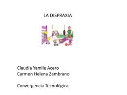 LA DISPRAXIA - helenazambrano1985