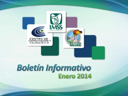 Boletín Informativo - Centro Nacional de CapacitacIÓN Y CALIDAD
