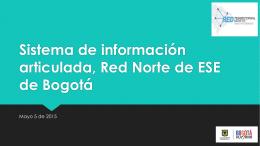 Sistema de información articulada Red Norte