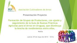PPTX, 3.44MB - Asociación Cultivadores de Arroz I ACA