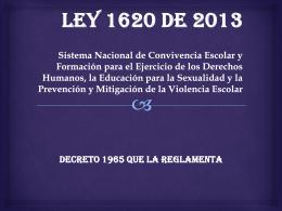 Ley 1620 de 2013 - Institución Educativa San Luis Gonzaga