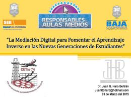 Presentación del Dr. Juan G. Haro Beltrán