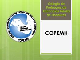 Presentación de COPEMH/Honduras