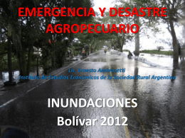Inundaciones Bolívar 2012 - Sociedad Rural Argentina
