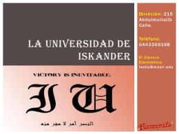 La Universidad de Iskander