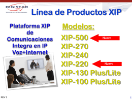 Presentation_IP PBX Hybrid_XIP_V4_November_09_