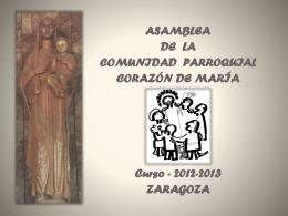 formación - Parroquia Corazón de María (Zaragoza)