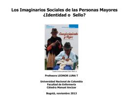 Los Imaginarios Sociales de las Personas