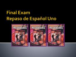 Repaso de Español Uno