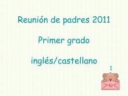 Reunión de padres 2007 Primer grado