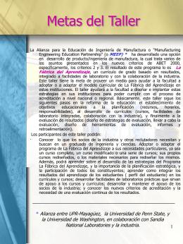 Objetivos - Recinto Universitario de Mayagüez