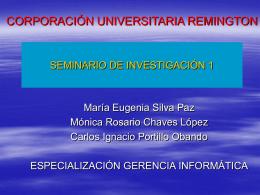 MARCO TEÓRICO - SEMINARIO DE INVESTIGACIÓN 1